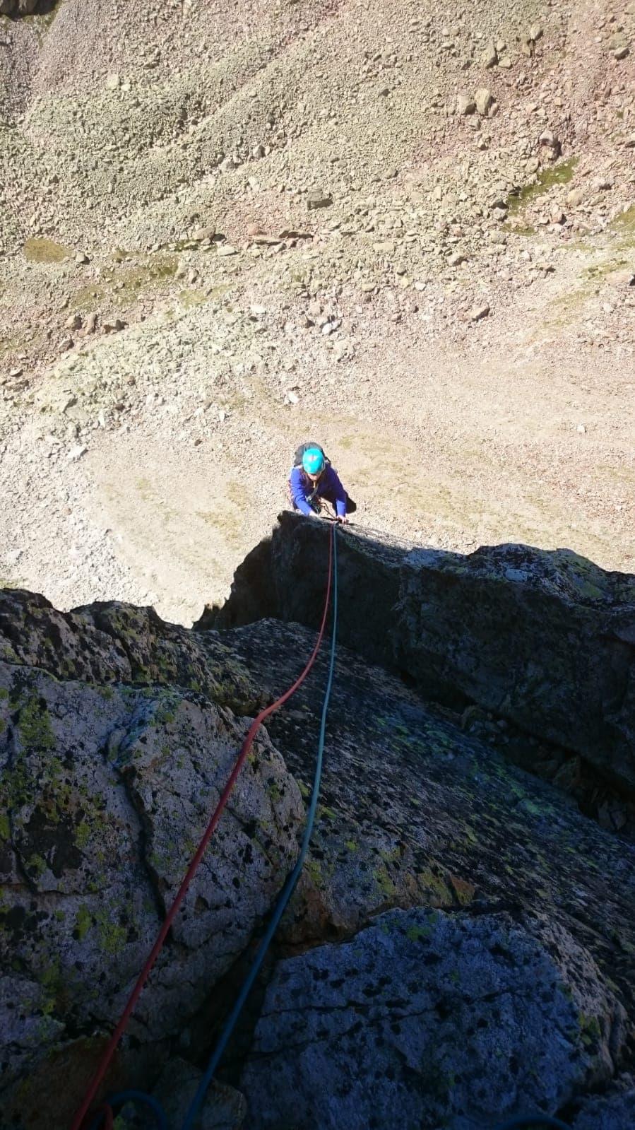 Répétition d'une nouvelle voie au Cayre des Erps 1415