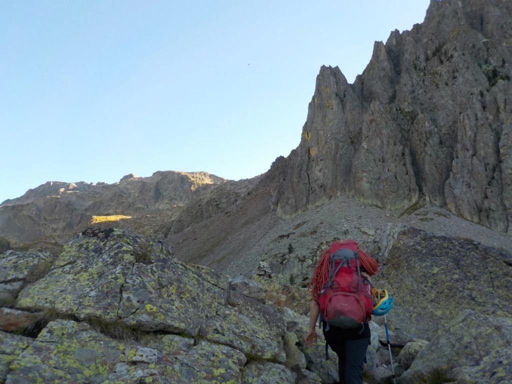 Répétition d'une nouvelle voie au Cayre des Erps 214