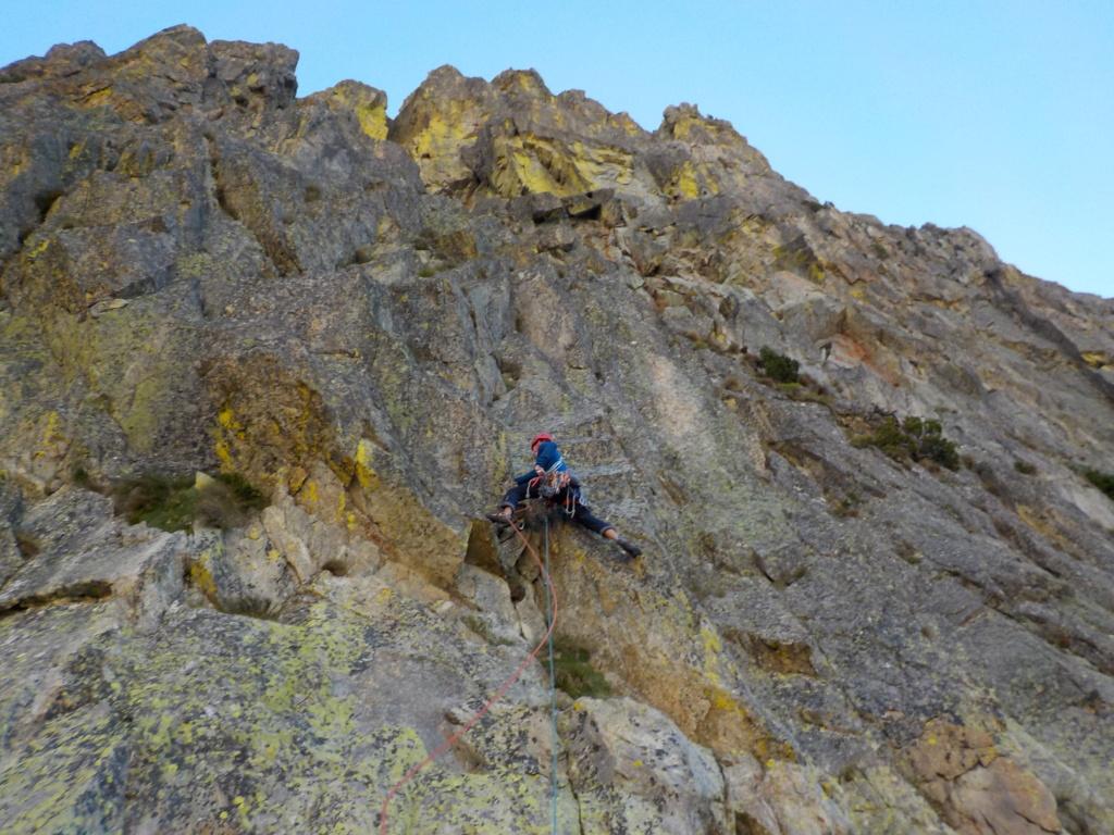 Répétition d'une nouvelle voie au Cayre des Erps 414