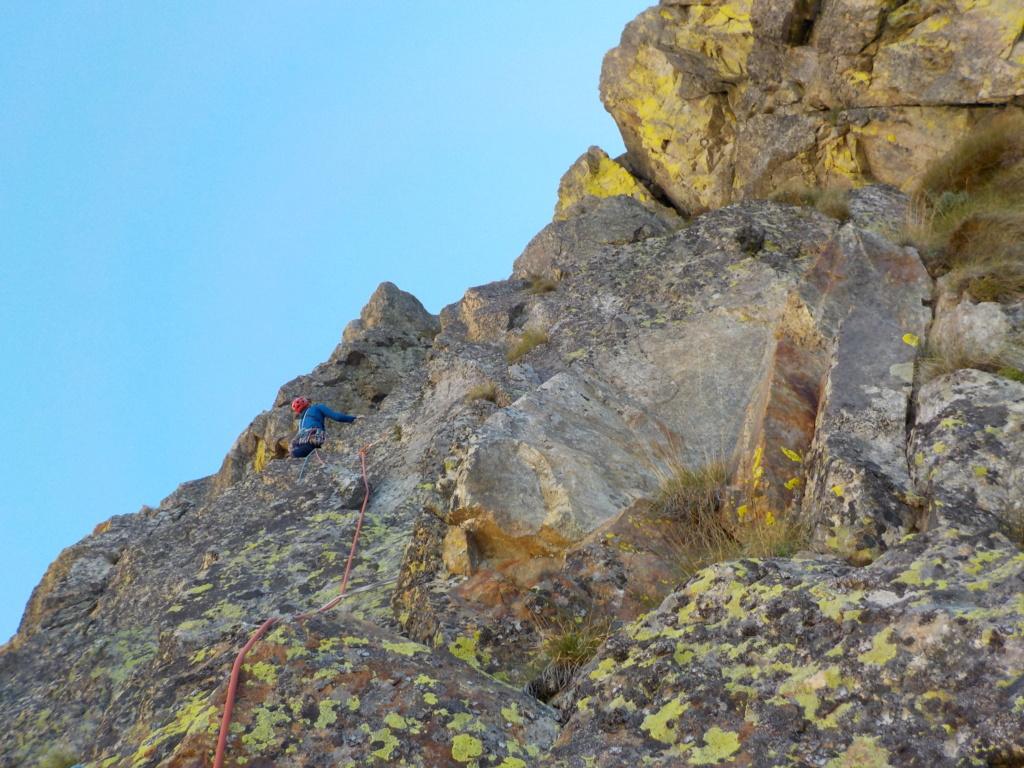 Répétition d'une nouvelle voie au Cayre des Erps 615