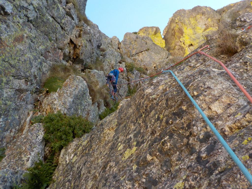 Répétition d'une nouvelle voie au Cayre des Erps 714