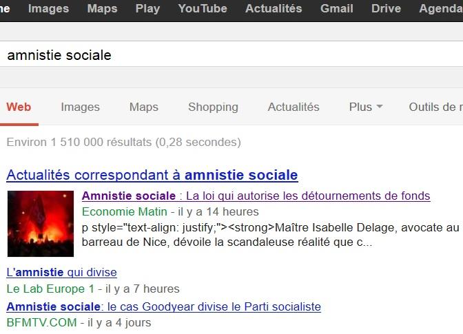 AMNISTIE SOCIALE : une prime à la casse mais surtout le permis de voler ! Google11