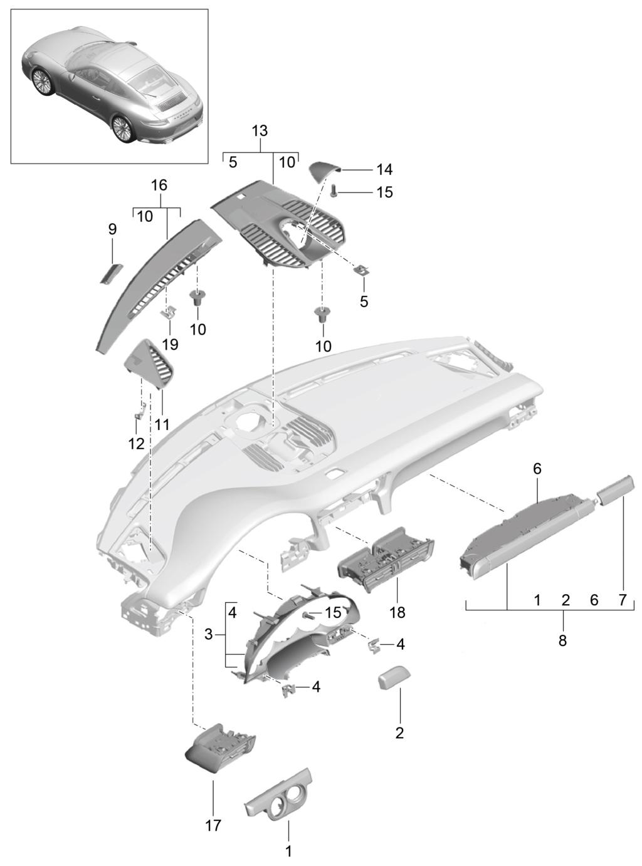 Tuto 991.2: Installation dessus tableau de bords, aerations et chrono pièce DBCarbon 9bb19810