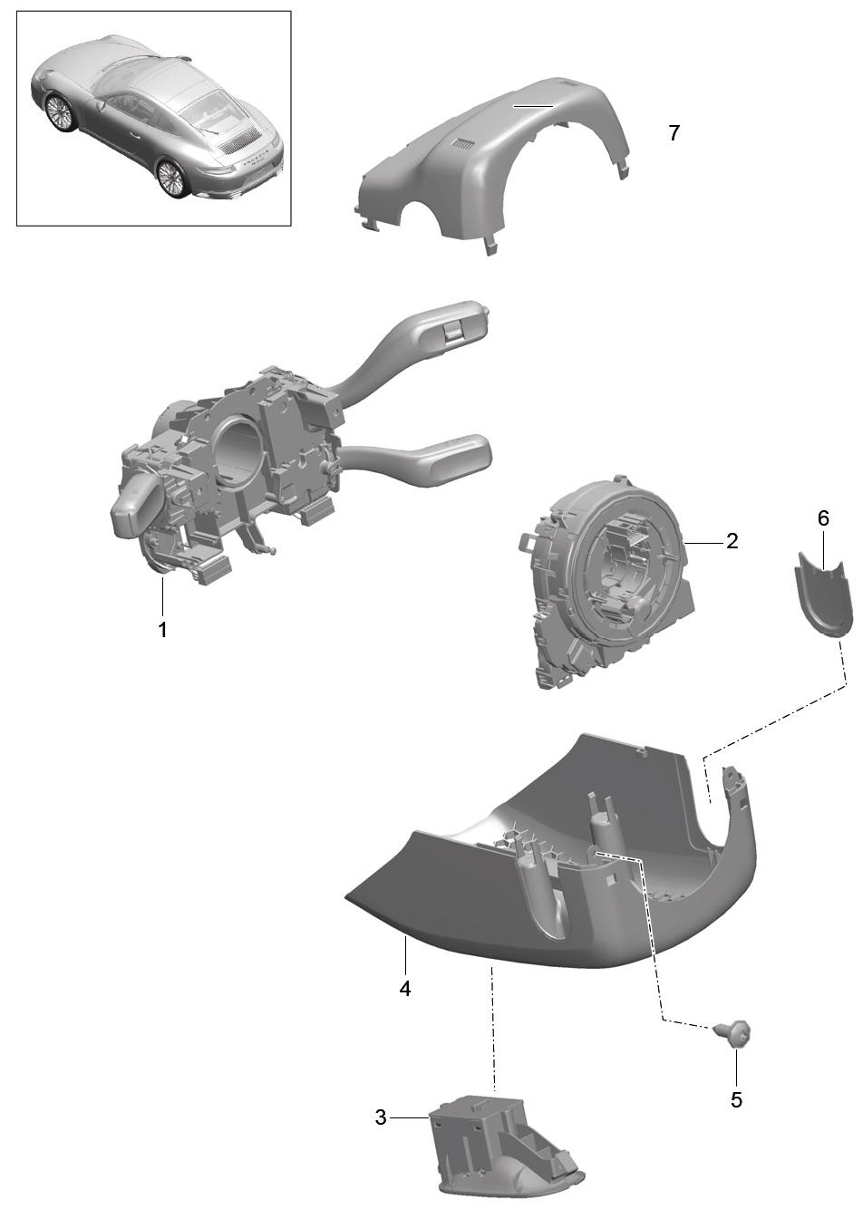 Tuto 991.2: installation cache colonne de direction par pièces DBCarbon Bc911-89