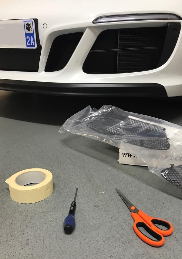 Tuto 991.2: Montage de grilles Zunsport avec bouclier avant SportDesign Ff86b310