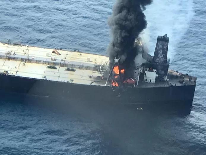Explosion et incendie sur un pétrolier près du Sri Lanka 111