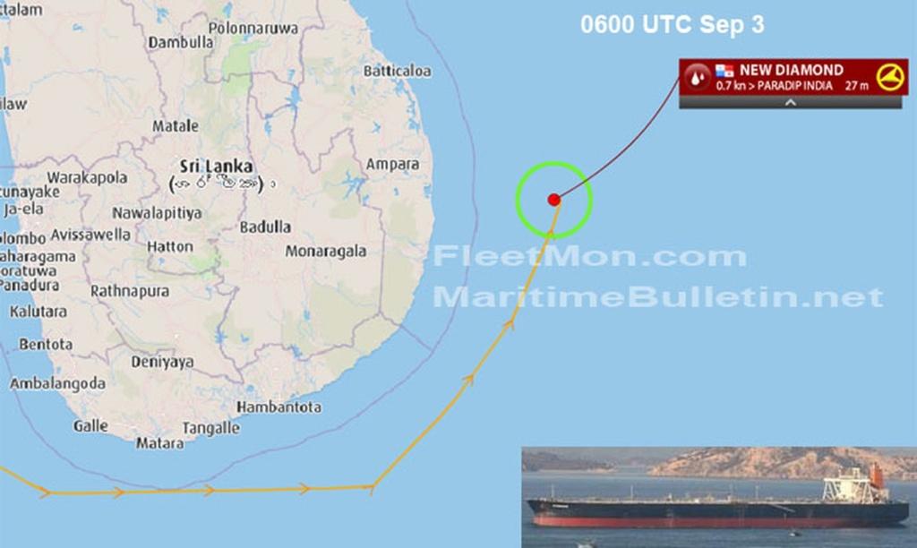 Explosion et incendie sur un pétrolier près du Sri Lanka 149ef310