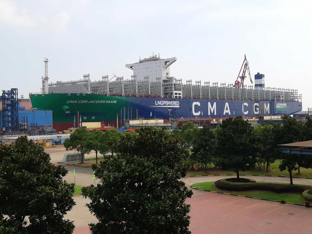 CMA CGM JACQUES SAADE, le premier porte-conteneurs de 23 000 71382410