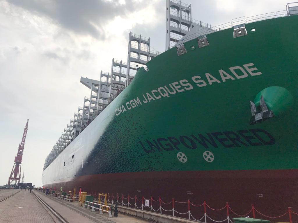 CMA CGM JACQUES SAADE, le premier porte-conteneurs de 23 000 71825710