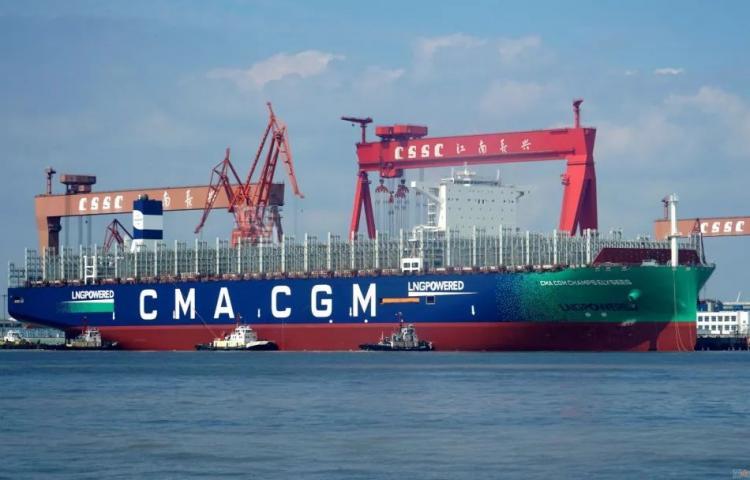 CMA CGM JACQUES SAADE, le premier porte-conteneurs de 23 000 7830_610