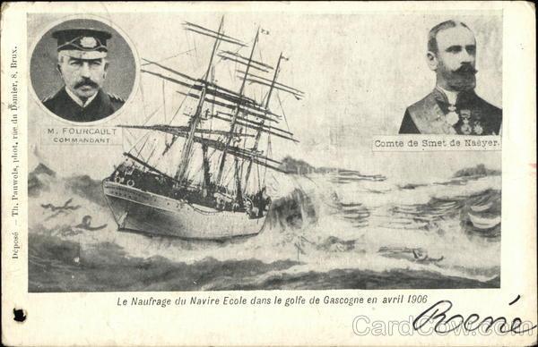 Le Comte de Smet de Naeyer navire-école belge Card0111