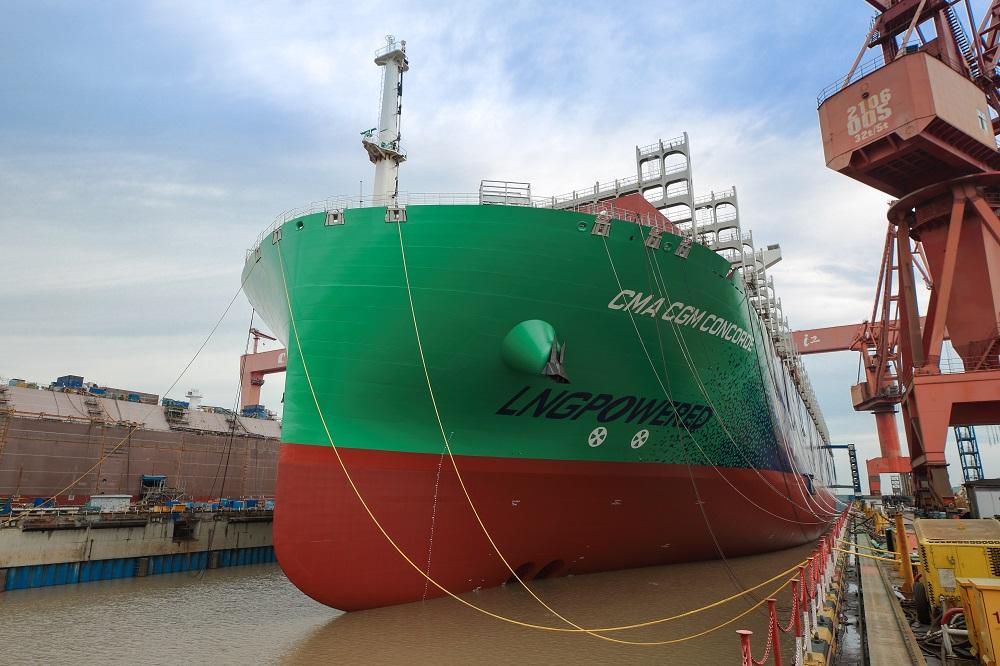 CMA CGM JACQUES SAADE, le premier porte-conteneurs de 23 000 Cma-cg10