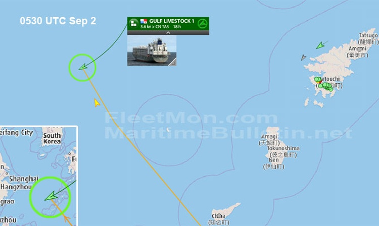 Livestock carrier in load with 43 crew disappeared after iss D0942710