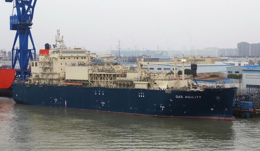 Le plus grand navire de soutage de GNL au monde est nommé à  Gas_ag10