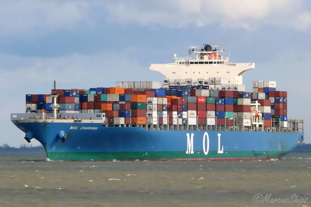 Fire Aboard Container Ship MOL Charisma Off Sri Lanka Mol_ch10