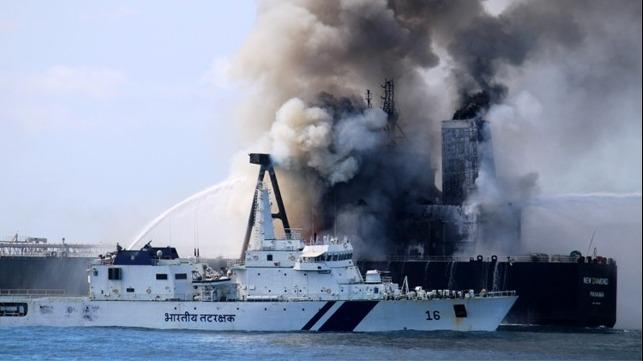 Explosion et incendie sur un pétrolier près du Sri Lanka New-di10