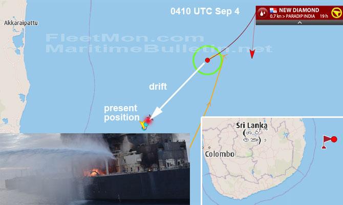 Explosion et incendie sur un pétrolier près du Sri Lanka Newdia14
