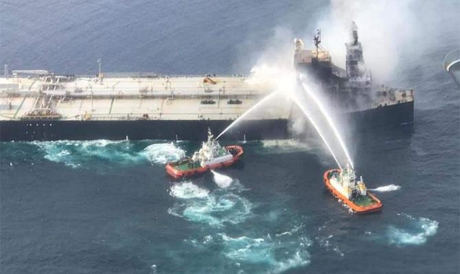 Explosion et incendie sur un pétrolier près du Sri Lanka Newdia16