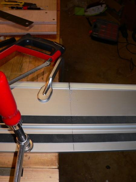 Gabarit pour scie sur rail Decoup12