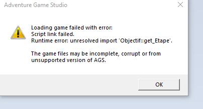 Han ! Script link failed  Bug_ge11