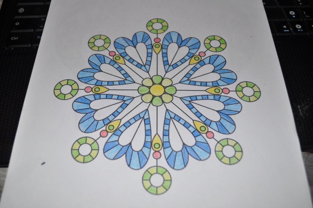 mandalas crayons de couleurs Mandal14