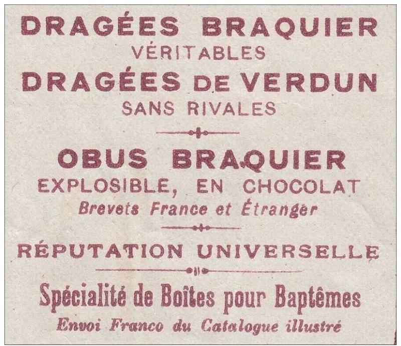 L'obus Braquier (Chocolate shells) 00310