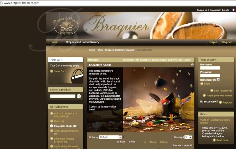 L'obus Braquier (Chocolate shells) 00710