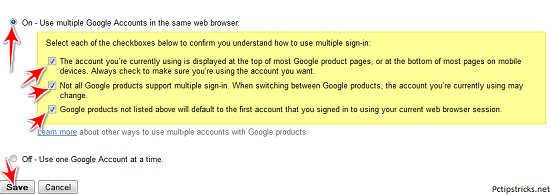 Access Multiple GMAIL Account in Same Browser 14510