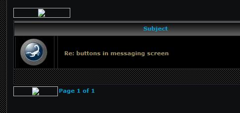 Buttons in messages disappearing  Screen10