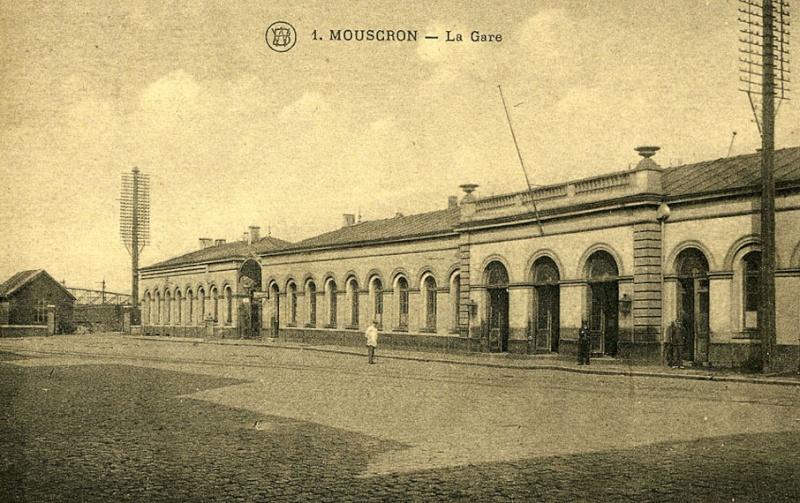 Mouscron Gare 1925 Cp-mou10