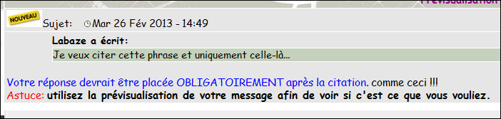 Modifier-supprimer votre message Prev110
