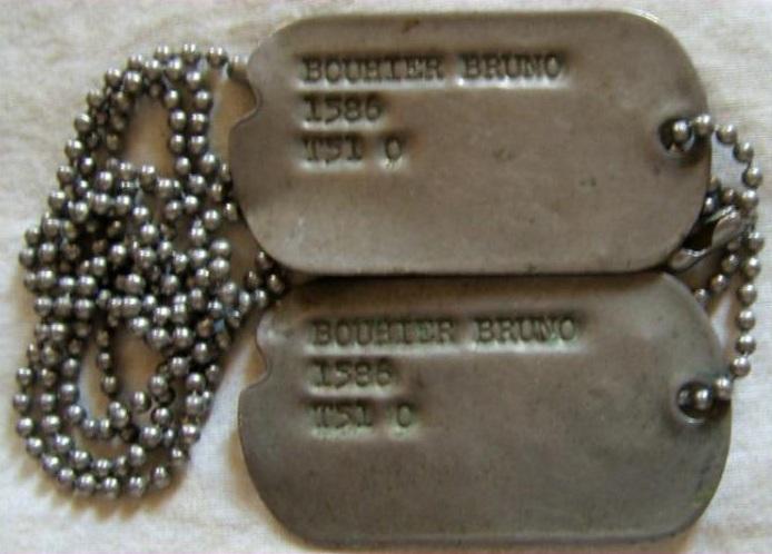 Mes dog tags US et allemande et française WW2 et une Corée Talach11