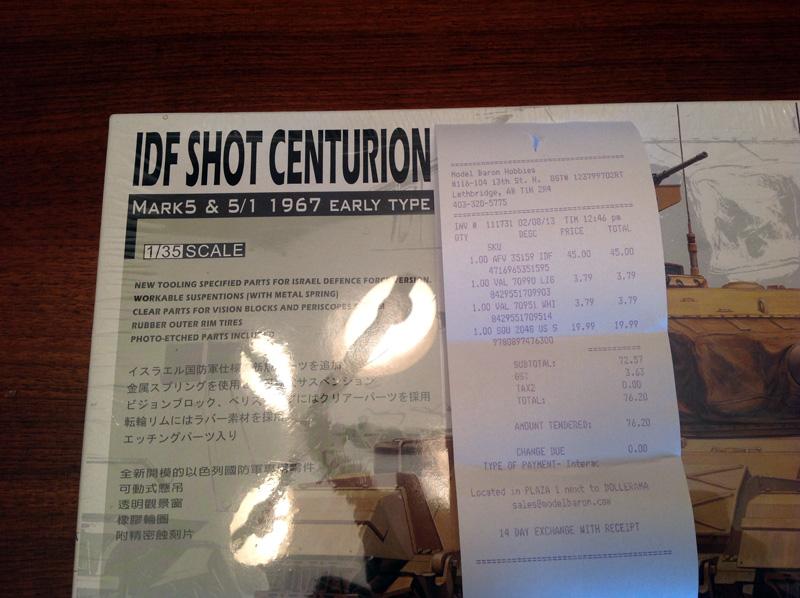 AFV 1/35 Shot Centurion 1967 0113