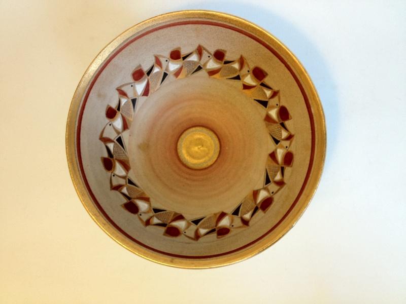 Gilt decorated studio bowl - Emmie Philps Photo11