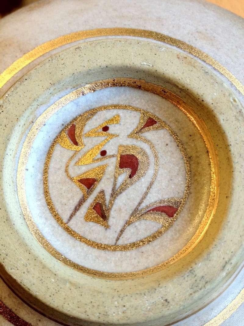 Gilt decorated studio bowl - Emmie Philps Photo12