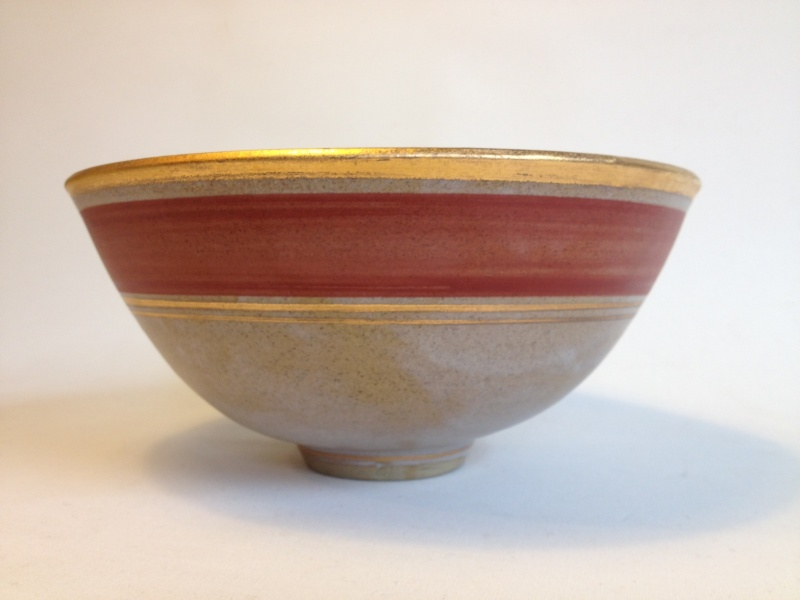 Gilt decorated studio bowl - Emmie Philps Photo14