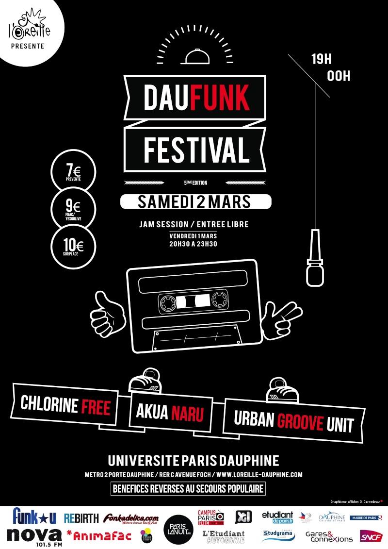 Akua Naru, Chlorine Free, Urban Groove Unit / Daufunk #5 / 2 mars 2013 Affich11