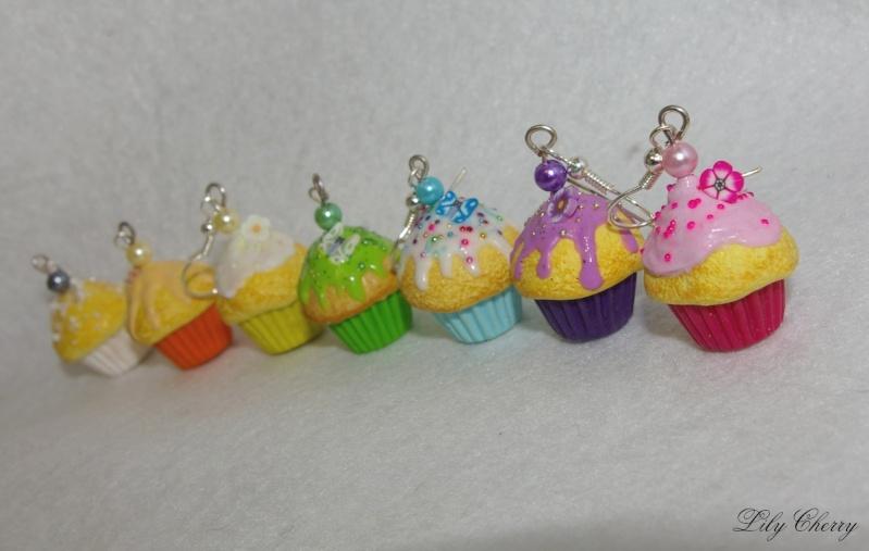 Voici quelques unes de mes créations, promis vous ne prendrez pas 1gr !!! ;) Lily-Cherry Cupcak10