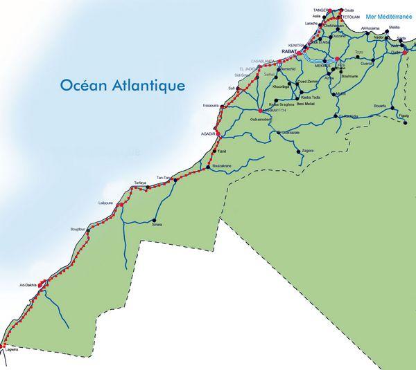 Carte du Maroc , ses frontières et terres collectives Carte-10