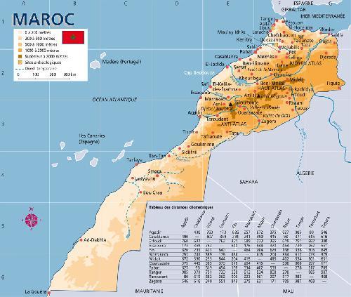 Carte du Maroc , ses frontières et terres collectives Carte_10