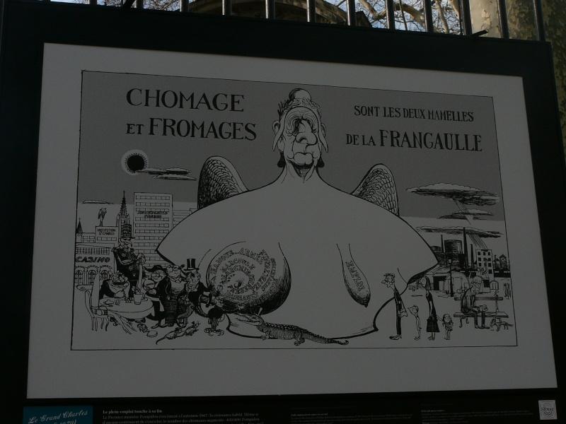 un siècle de caricatures sur les grilles du jardin du Luxembourg P1110817