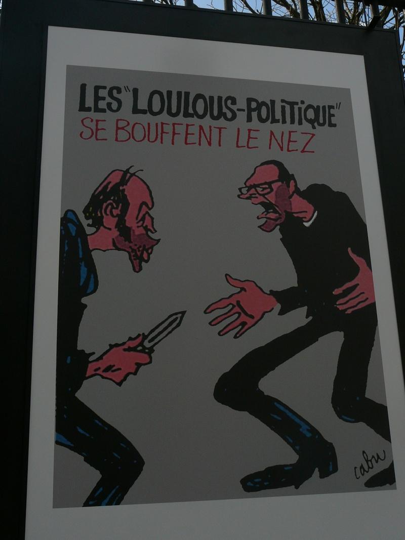un siècle de caricatures sur les grilles du jardin du Luxembourg P1110819