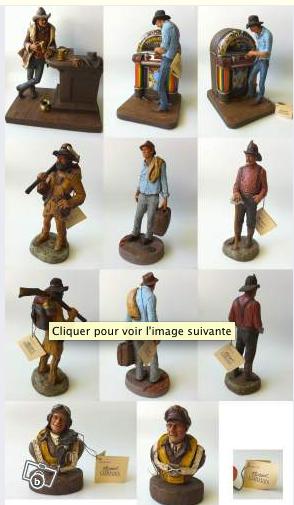 Statuettes western cowboy des année 80 fabriquées par M Garman  Captur10