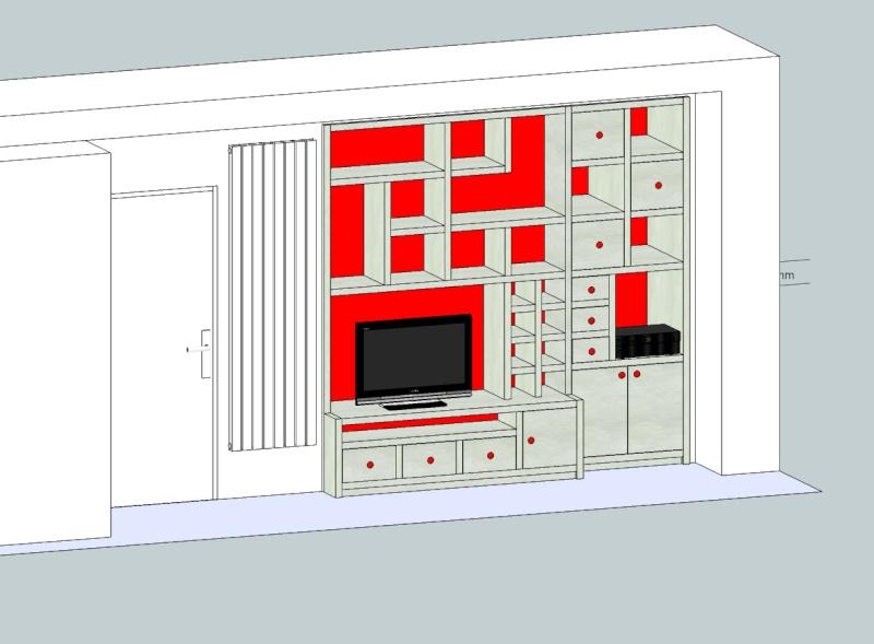Etagère meuble TV Meuble17