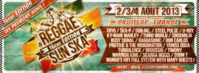 16 eme Reggae Sun Ska le 2,3,4 Aout 2013 a Pauillac 48487810