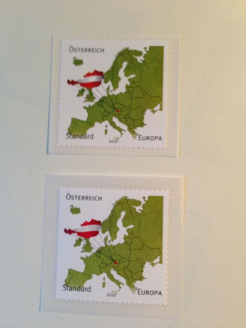 Selbstklebende Standardmarke 2012-Unterschied zw. 1. Auflage und 2. Auflage  Foto_u10