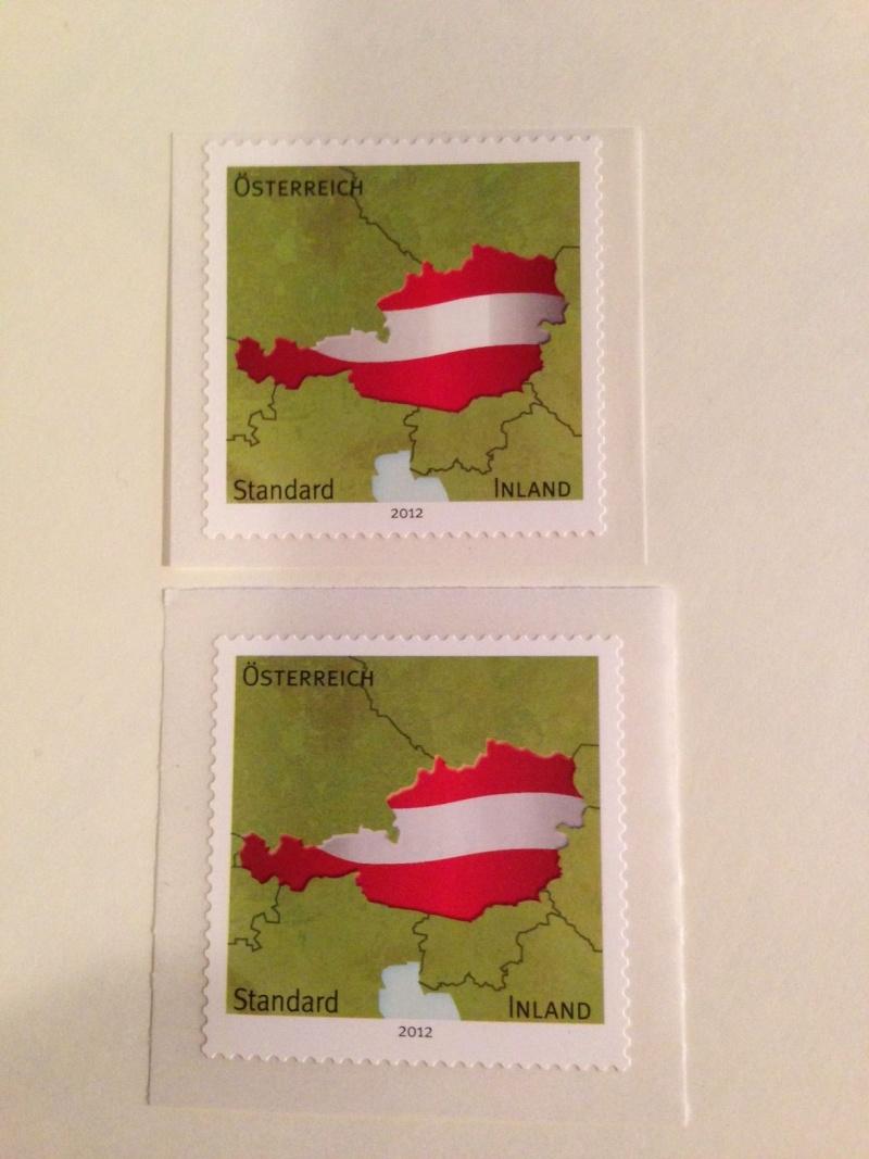 Selbstklebende Standardmarke 2012-Unterschied zw. 1. Auflage und 2. Auflage  Foto_u11