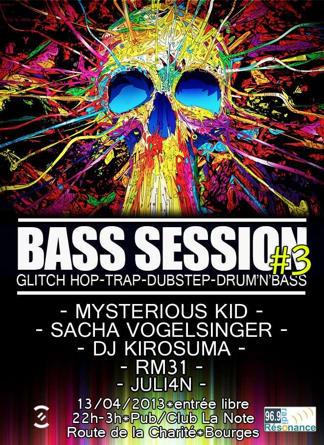 """BASS SESSION #3 @ """"LA NOTE"""" (Bourges) Bass_s13"""