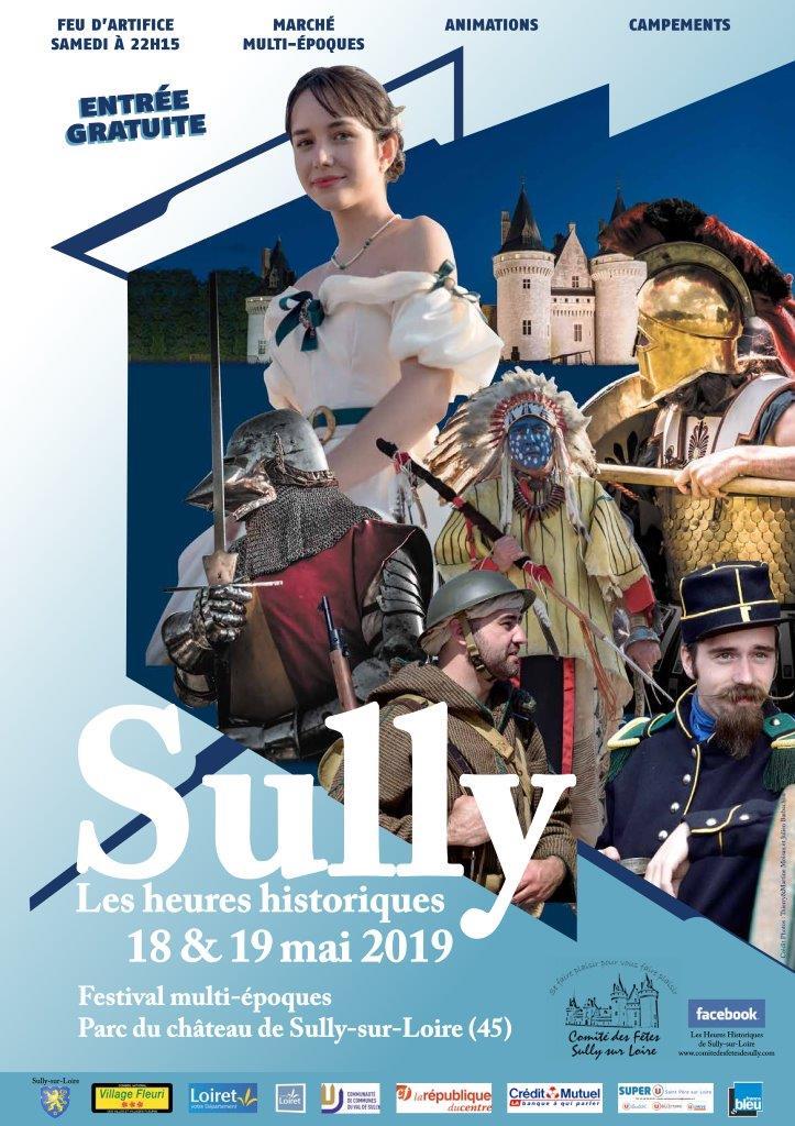 Heures historiques de Sully sur Loire Affich10