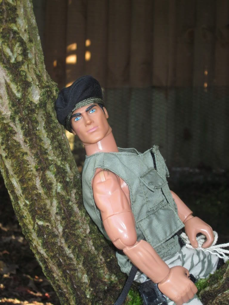 My Action Man posing in the garden    (Ackie88) Img_1010